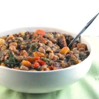 Vegan Caribbean Black Eyed Peas Stew