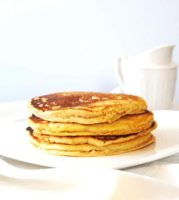 Orange Sweet Potato Pancakes #vegan