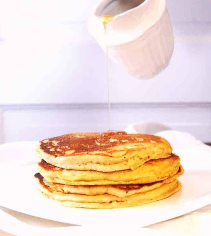 Orange Sweet Potato Pancakes