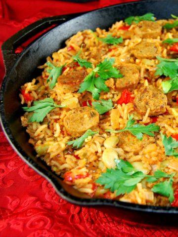 Vegetable Paella - holycowvegan.net
