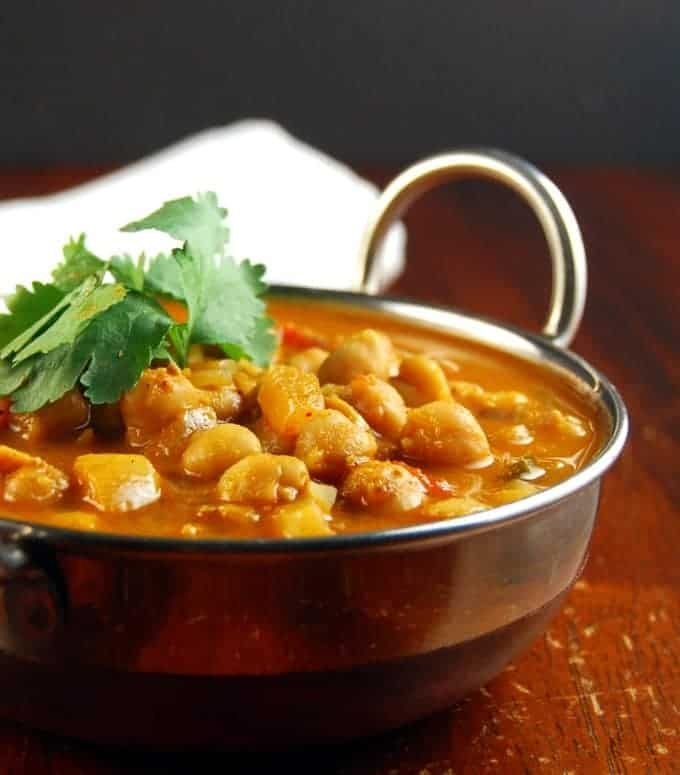 South indian chickpea curry vegan recipes holy cow chickpea curry forumfinder Image collections