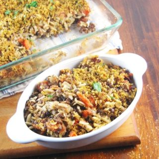 Lentil Orzo Bake With a Cheesy Crust