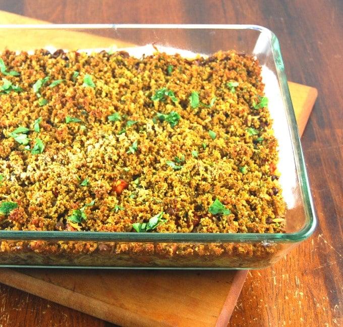 Lentil-Orzo Bake