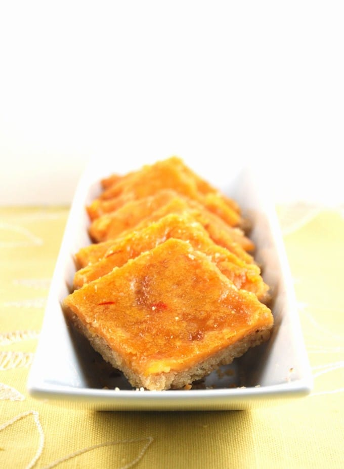 Saffron Cheesecake Bars