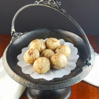 Kaju Rava Laddu, an Indian sweet