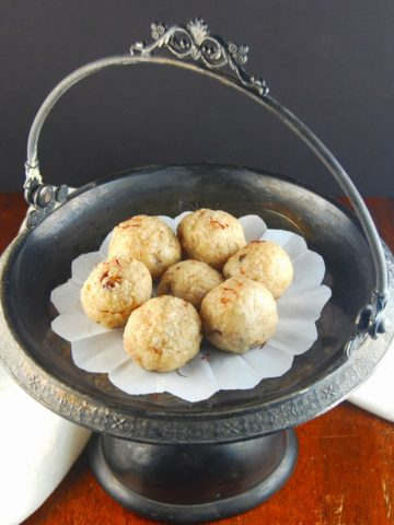 Kaju Rava Laddu, an Indian sweet