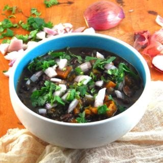 Fat-free Cuban Black Bean Stew in a Crockpot