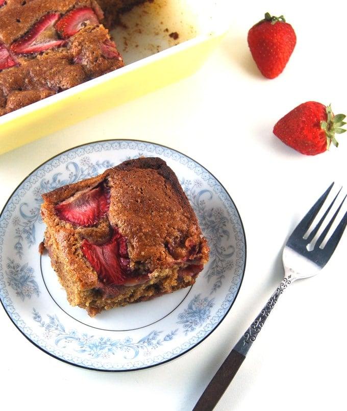 Strawberry Bread, a whole-wheat, low-fat, vegan bread