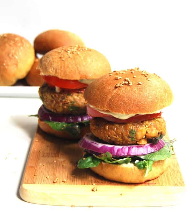 chana masala burger