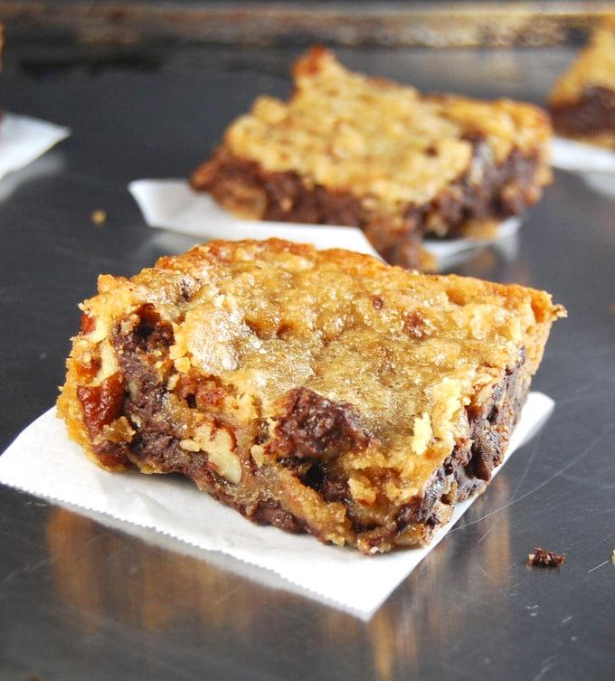 Chocolate Chunk Bars, vegan and wholegrain. http://holycowvegan.net