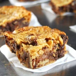 Chocolate Chunk Bars, vegan and wholegrain. https://holycowvegan.net