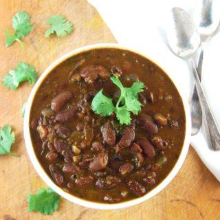 Rajma. Kidney Beans in a Curry Sauce. Vegan. https://holycowvegan.net