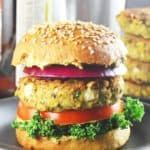 Sprouted Mung Bean Burgers #vegan #glutenfree