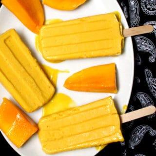 Vegan Mango Kulfi Popsicles