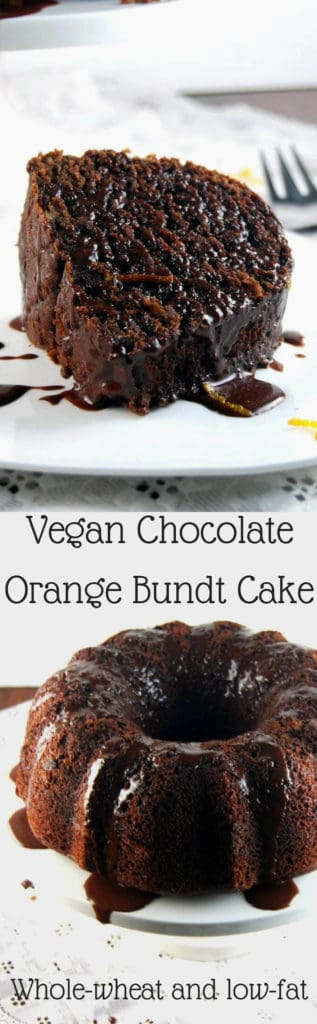 Vegan Chocolate Orange Bundt Cake - HolyCowVegan.net