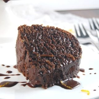 Wholegrain Chocolate Orange Bundt Cake with Chocolate Orange Glaze