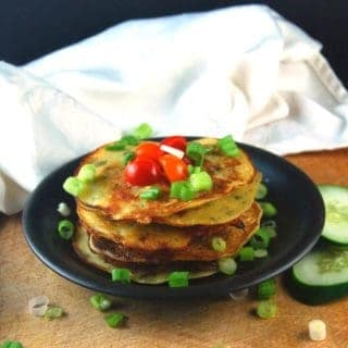 Savory Cucumber Pancakes, Fat-Free and Gluten-Free