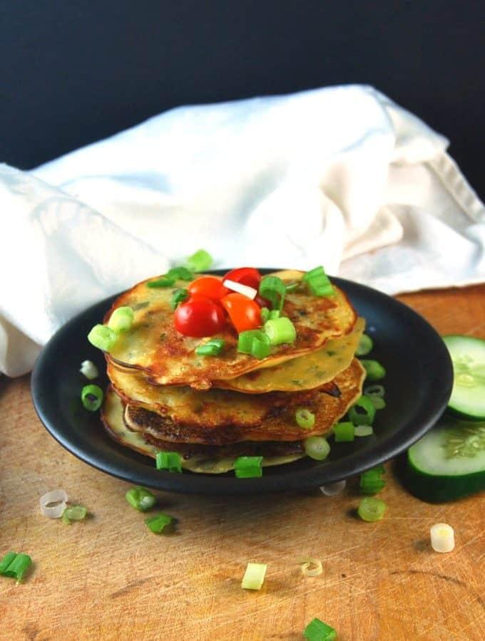 Savory Cucumber Pancakes