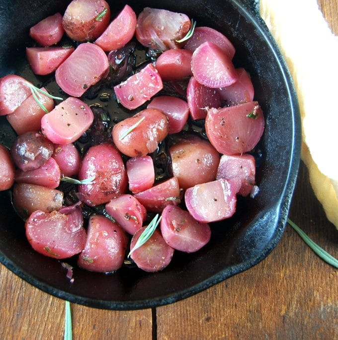 Braised Radishes with Lavender