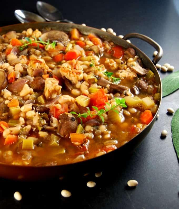 Vegan Cassoulet. Glutenfree, healthy