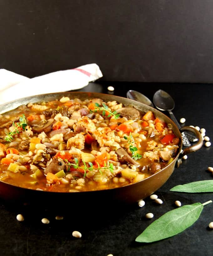 Vegan Cassoulet. Glutenfree, healthy