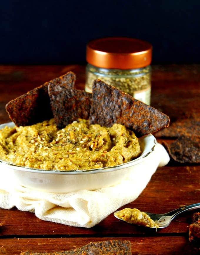 Roasted Squash Dip with Za'atar. #vegan #glutenfree