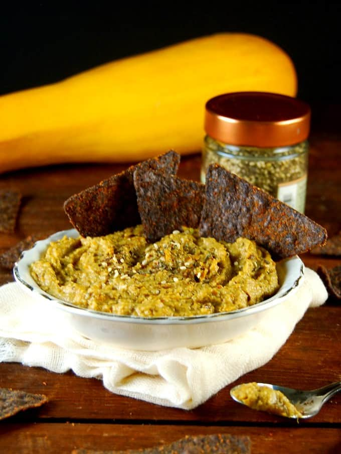 Roasted Squash Dip with Za'atar. #vegan #glutenfree