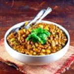 Black eyed Peas with Meatless Beef (Lobhia Keema)