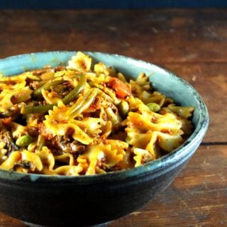 Farfalle with Chorizo and Veggies