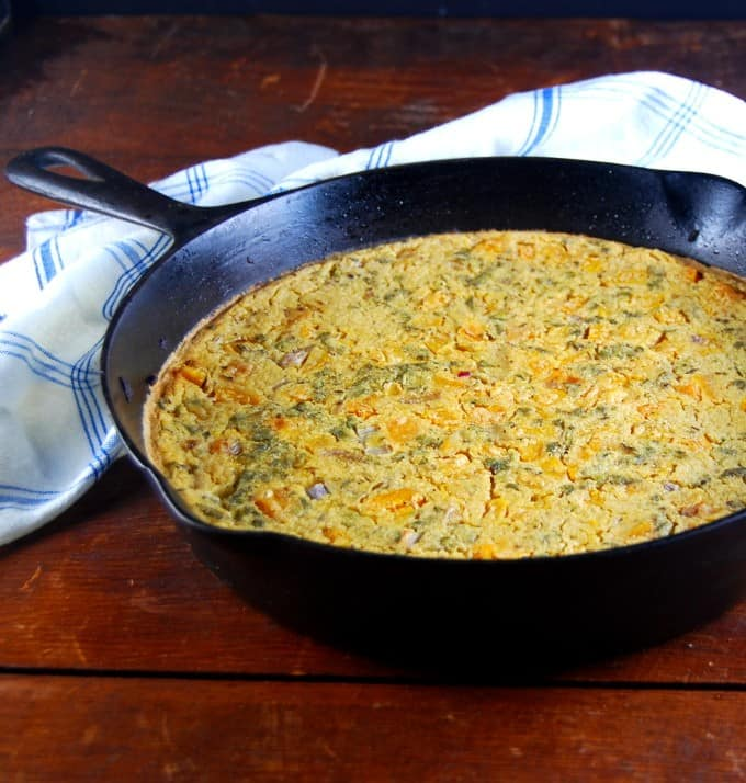 Butternut Squash Farinata, vegan and gf