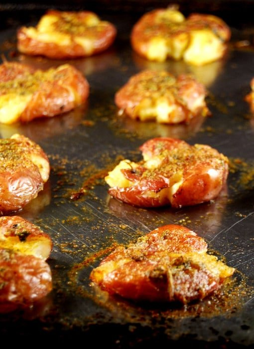Masala Smashed Potatoes