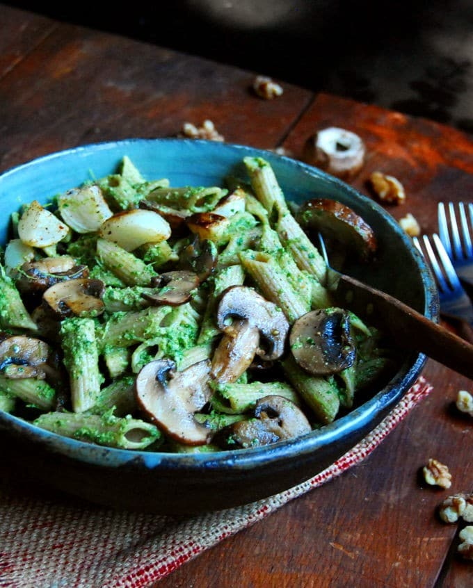 Pasta with Turnip Pesto