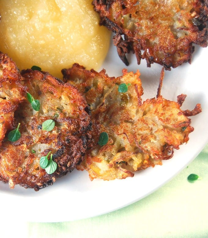 Apple Potato Pancakes with Thyme (latkes)