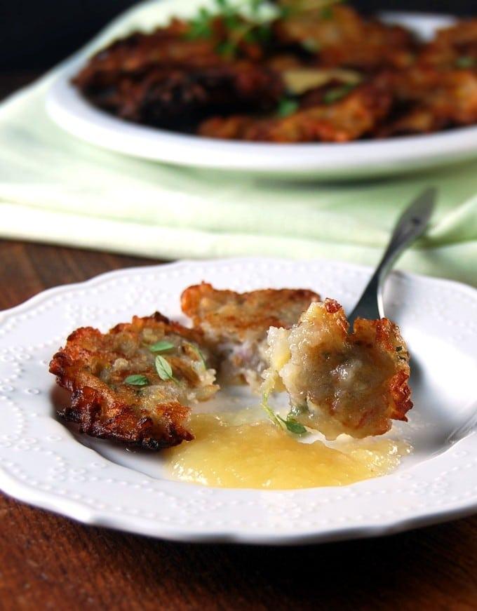 Apple Potato Pancakes with Thyme (latkes)