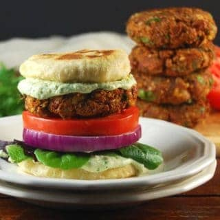 Vegan Tandoori Naan Burger With Coriander Raita