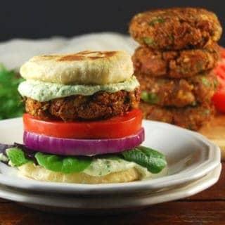 Tandoori Naan Burger With Coriander Raita