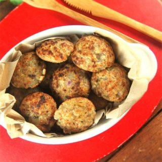 Fat Free Tapioca Pearl Fritters or Sabudana Vada