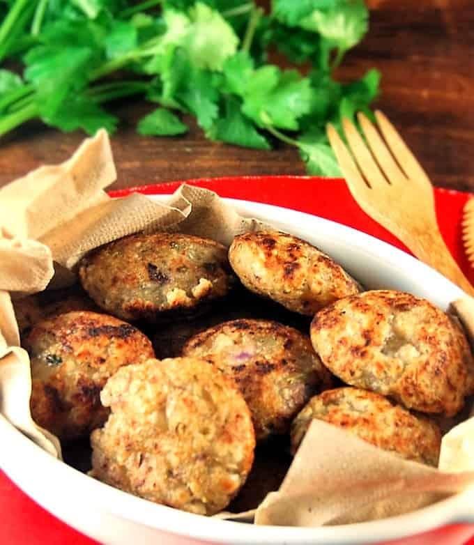 Tapioca Pearl Fritters or Sabudana Vada