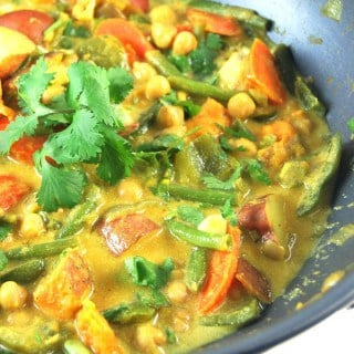 Easy Vegetable Curry With Chickpeas