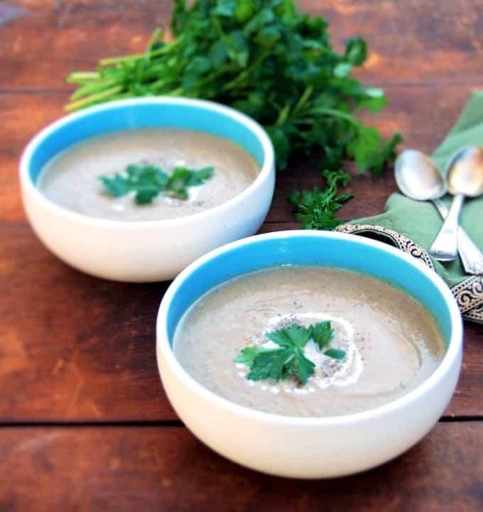 Smoky Roasted Eggplant Soup with Za'atar