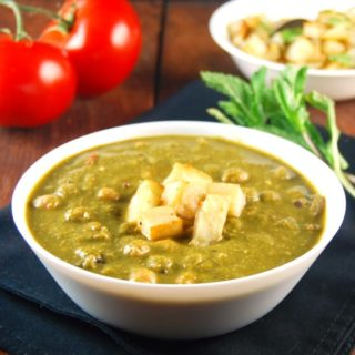 Saag Chana; Chickpeas with Greens