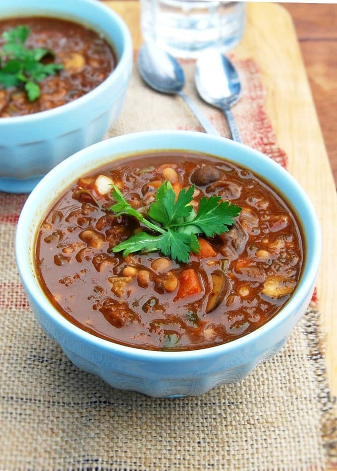 vegan tuscan white bean stew