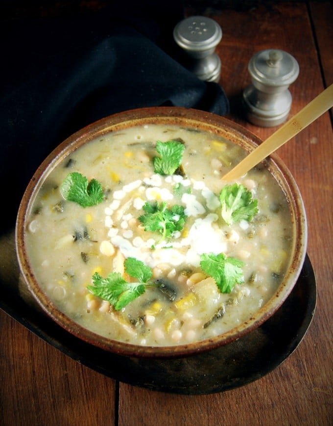 Vegan White Bean Chili with Leeks