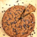 Giant Banana Chocolate Chip Skillet Cookie