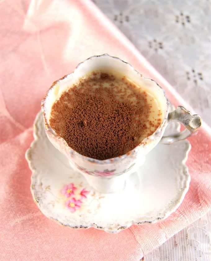 Chocolate Vanilla Pots de Creme, vegan and soy-free