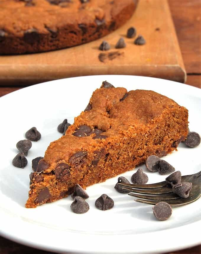 Giant Vegan Banana Chocolate Chip Cookie - holycowvegan.net