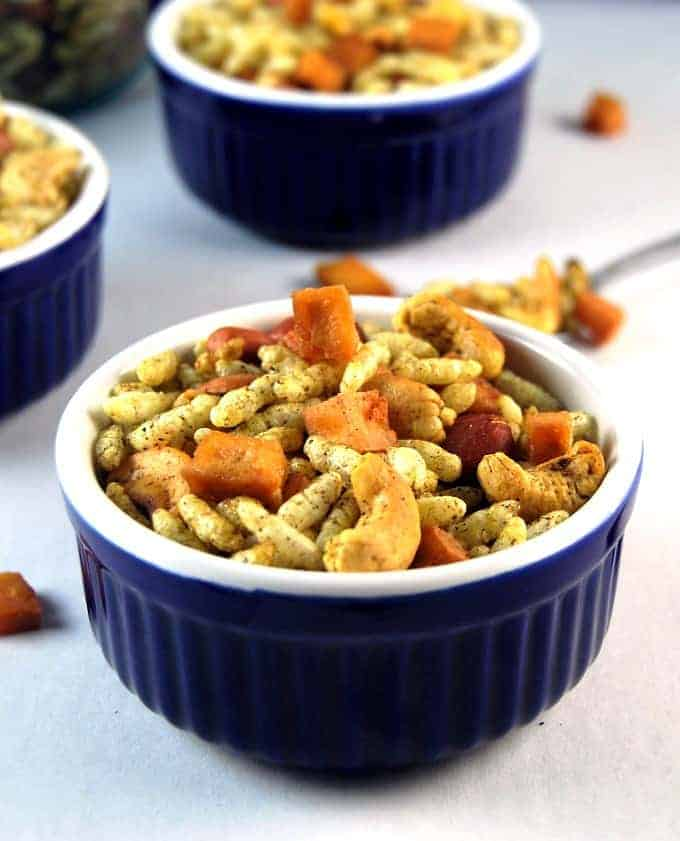 chivda, indian snack mix - holycowvegan.net