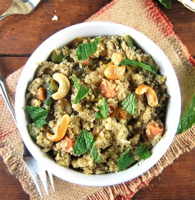 Vegan Wedding Food: Cauliflower Rice Biryani • Holy Cow! Vegan Recipes