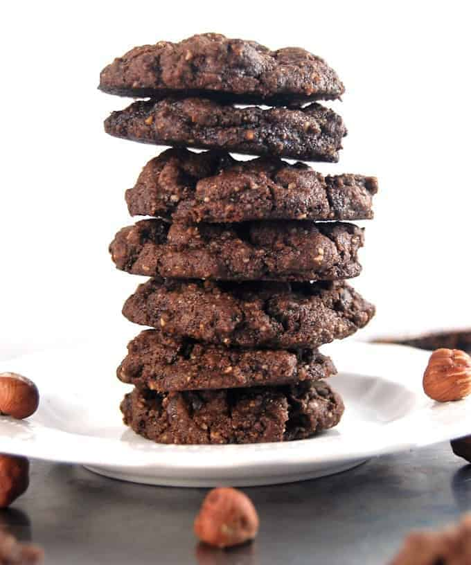 Vegan Chocolate Hazelnut Cookies HolyCowVegan.net