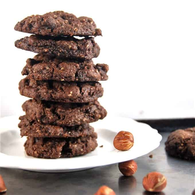 Vegan Chocolate Hazelnut Cookies